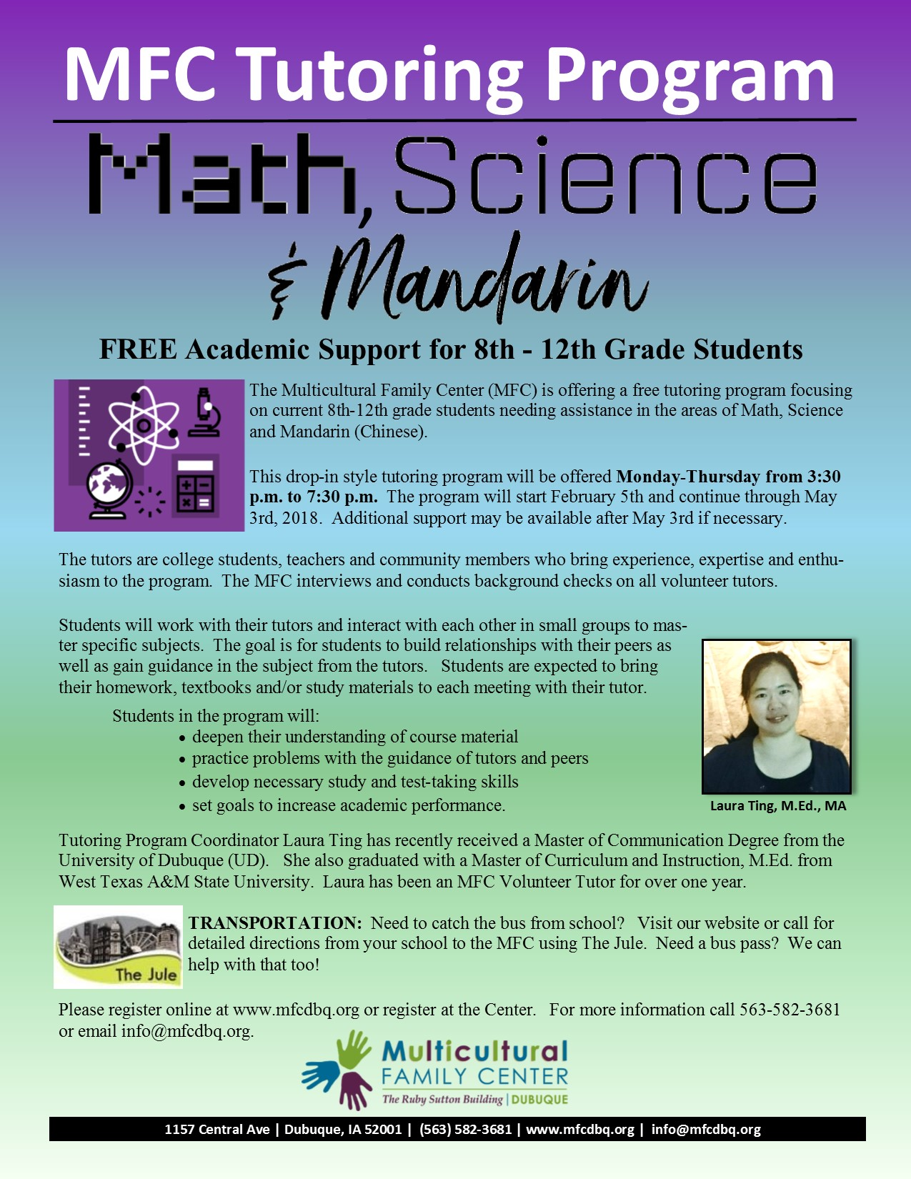 Math, Science & Mandarin Tuturing Program | Multicultural Family Center
