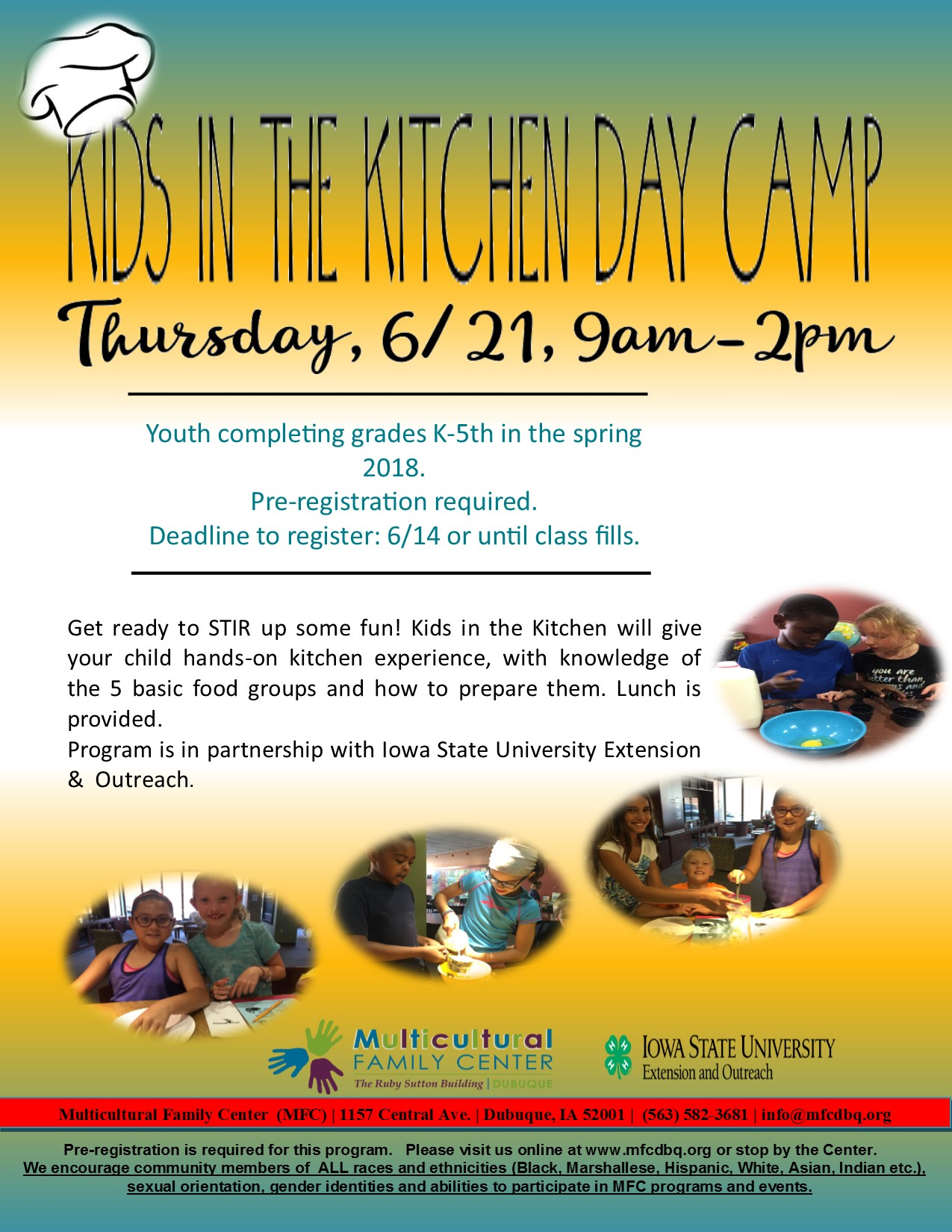 KIDS IN THE KITCHEN DAY CAMP   Multicultural Family Center